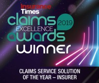Insurance Times Claims Excellent Awards Winner 2019